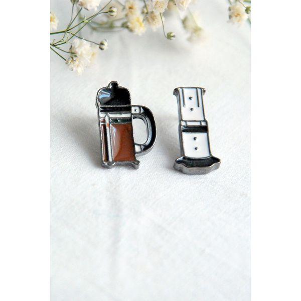 French Press İkili Pin (I054)