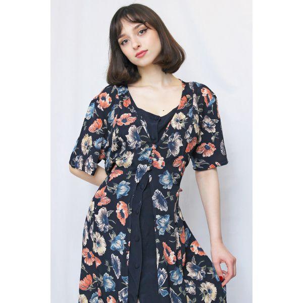 90'ler İki Katmanlı Elbise (B029)