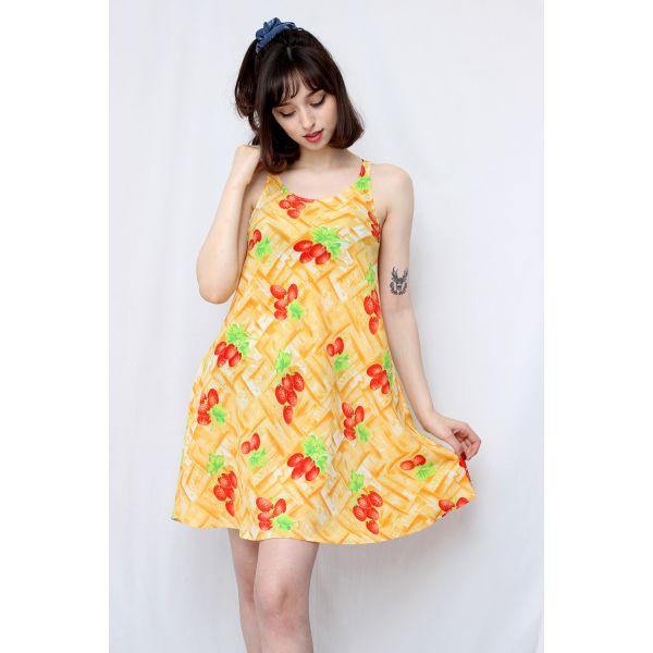 Çilekli Elbise (B037)
