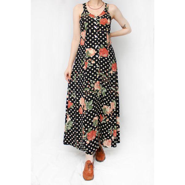 Askılı Vintage Elbise (B051)
