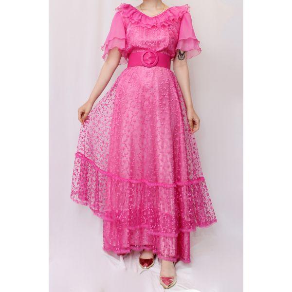 80'ler Vintage Elbise (B061)