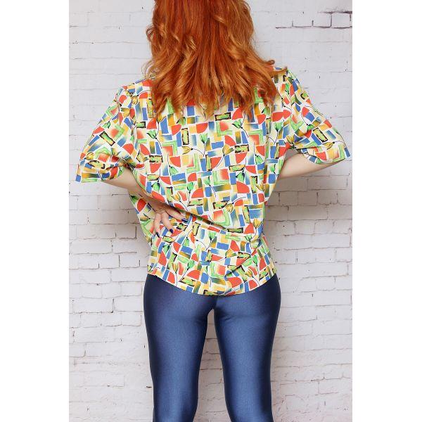 Renkli Desenli Gömlek (A097)