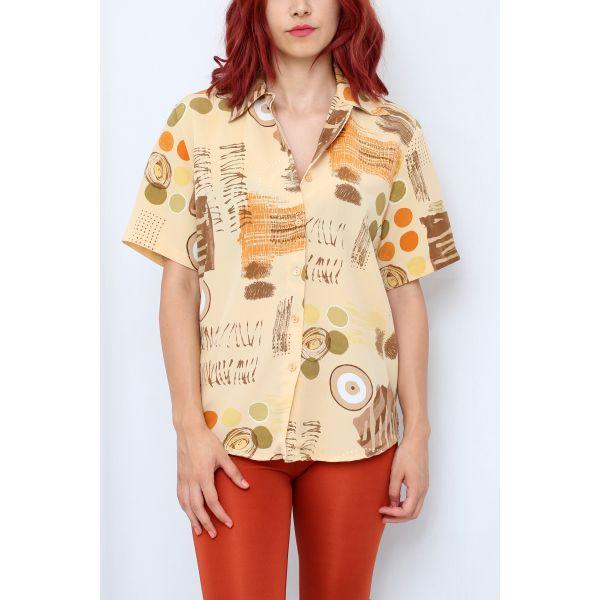 Soyut Desenli Gömlek (A175)