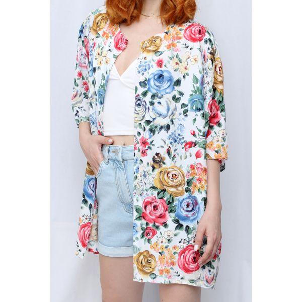 Floral Desenli Gömlek (A377)