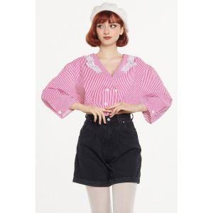 Yaka Detaylı Vintage Gömlek (A440)