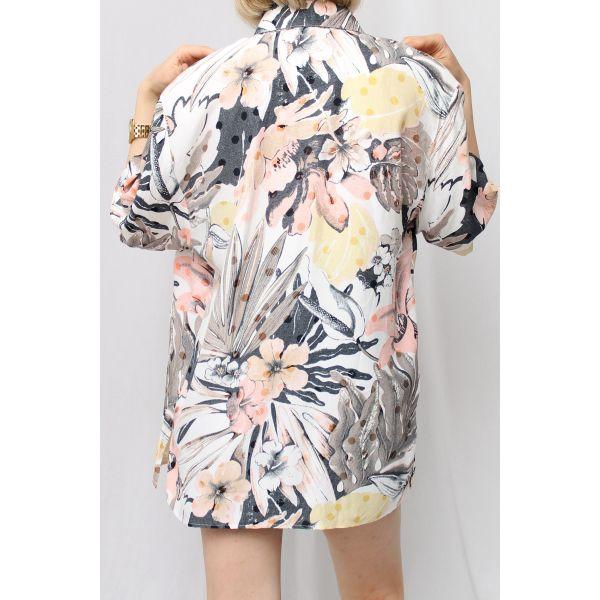 Soft Desenli Vintage Gömlek (A458)