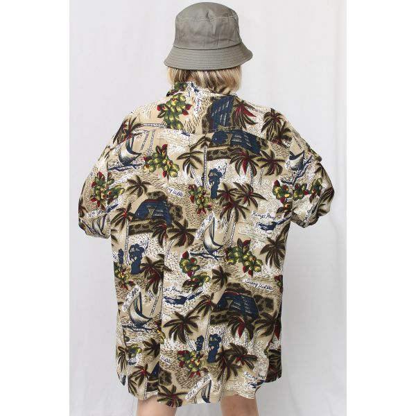 Unisex Palmiye Vintage Gömlek (A459)