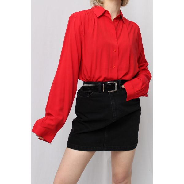 Kırmızı Vintage Gömlek (A462)