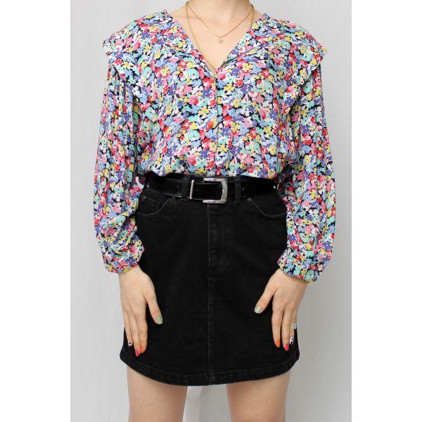 Mini Çiçekli Vintage Gömlek (A464)