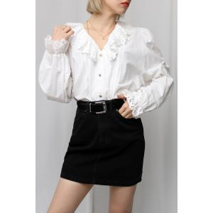 Ruffle Vintage Gömlek (A465)