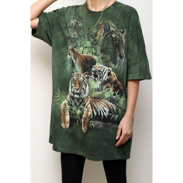 Tiger Print T-shirt (F022)