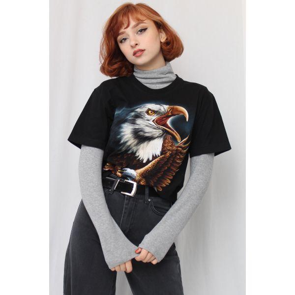 Kartal Desenli Tshirt (F049)