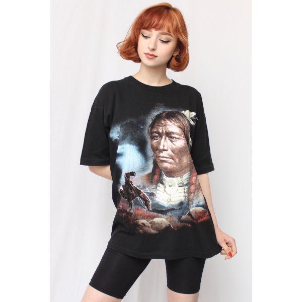 Kızılderili Desenli Tshirt (F057)